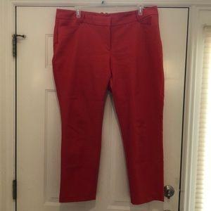 Eloquii Kady Fit Orange Ankle Pants, Sz. 20